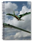 Pterodactyls In Flight Spiral Notebook