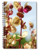 Purple Goosefoot Chenopodium Spiral Notebook