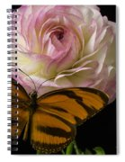 Ranunculus And Butterfly Spiral Notebook