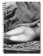 Reclining Nude, C1885 Spiral Notebook