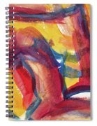 Red Abstract Painting Spiral Notebook