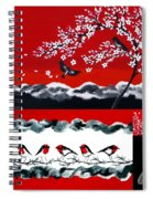 Red And Black Spiral Notebook