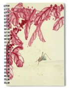 Red Autumnal Leaves Insect Spiral Notebook