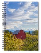 Red Barn And Mt Hood Spiral Notebook