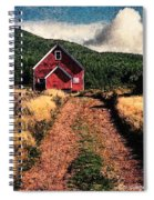 Red Barn Road Spiral Notebook