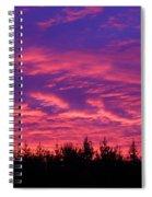 Red Clouds At Dawn Spiral Notebook