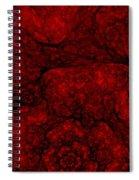 Red Fractal 051910 Spiral Notebook