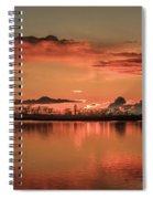 Red Glow Spiral Notebook