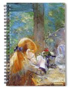 Red-haired Girl Sitting On A Veranda Spiral Notebook