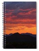 Red Hot Desert Skies  Spiral Notebook
