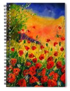 Red Poppies 451 Spiral Notebook