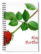 Red Rose Happy Birthday  Spiral Notebook