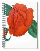 Red Rose, Oil Painting Spiral Notebook