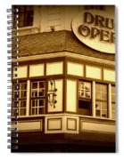 Restaurant Sign In Brussels Spiral Notebook