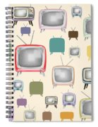 retro TV pattern  Spiral Notebook