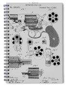 Revolving Fire Arm Patent 1881 Spiral Notebook