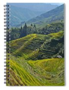 Rice Terraces In Guilin, China  Spiral Notebook