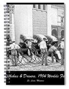 Rickshas And Drivers, 1904 Worlds Fair Spiral Notebook