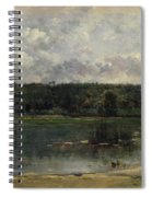 River Scene With Ducks Spiral Notebook
