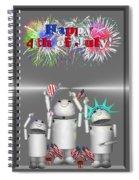 Robo-x9 Celebrates Freedom Spiral Notebook