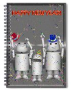 Robo-x9 New Years Celebration Spiral Notebook