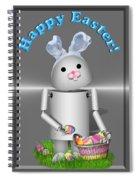 Robo-x9 The Easter Bunny Spiral Notebook