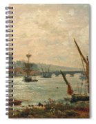 Rochester Cathedral And Castle Spiral Notebook