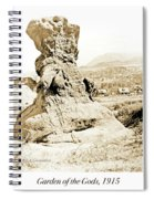 Rock Formation, Garden Of The Gods, 1915, Vintage Photograph Spiral Notebook