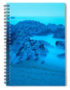 Rock Formations On The Coast, Central Spiral Notebook