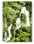 Rocky Mountain Waterfall Spiral Notebook