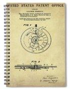 Rolex Watch Patent 1999 In Sepia Spiral Notebook