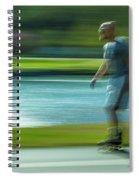 Rollerblading In Forest Park Spiral Notebook