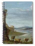 Roman Landscape With Ruins Spiral Notebook