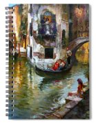 Romance In Venice Spiral Notebook