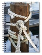 Rope Fence Fragment Spiral Notebook