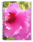 Rose Of Sharon In Abstract Spiral Notebook
