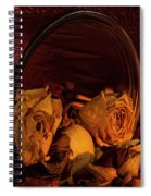 Roses Spilling Out Of Vase Spiral Notebook
