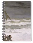 Rough Sea At Etretat Spiral Notebook