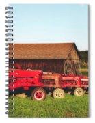 Row Of Antique Farmalls Spiral Notebook