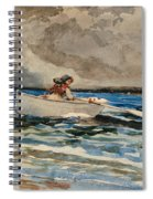 Rowing At Prouts Neck Spiral Notebook