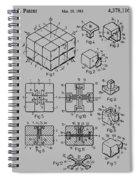 rubik's cube Patent 1983 Spiral Notebook