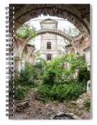 Ruins Of The Church Of St Wenceslas Spiral Notebook