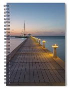 Rum Point Pier At Sunset Spiral Notebook