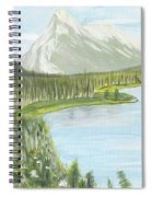 Rundle From Banff Spiral Notebook