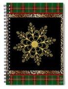 Rustic Snowflake-jp3695 Spiral Notebook