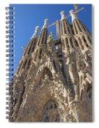 Sagrada Familia In Barcelona Spiral Notebook