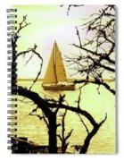 Sailboat Golden Sunset Spiral Notebook