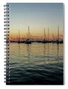 Sailboats At Sunrise  Spiral Notebook
