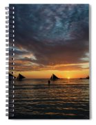 Sailing Boats At Sunset Boracay Tropical Island Philippines Spiral Notebook