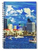 Sailing In San Diego Bay  Spiral Notebook